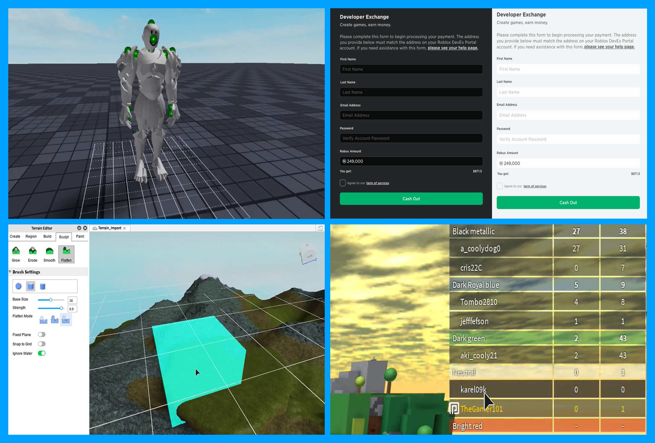 Roblox Developer Hub Learn How To Create Games On The - roblox list of events 2018 developer forms